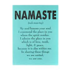 namaste home decor namaste verse turquoise wall canvas i want this quote but not in