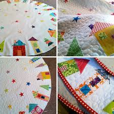 Quilted Christmas Tree Skirts To Make - the hood u0027 pattern from fat quarterly pieced by fresh lemons i