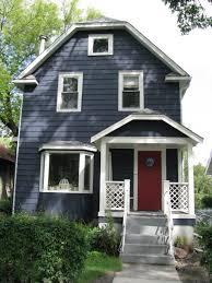 blue house white trim modern exterior design ideas blue siding wood doors and white trim