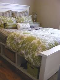 Storage Beds Diy Ana White Farmhouse Storage Bed With Hinged Footboard Diy Projects