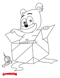 free printable gummy bears coloring pages redcabworcester