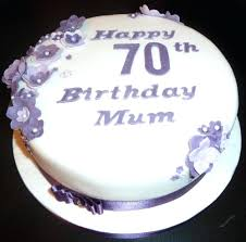 70th birthday cake ideas cake ideas for 70th birthday cakes with purple flowers wedding and