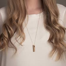 Gold Name Bar Necklace Gold Or Silver Long Name Bar Necklace By Lulu Belle