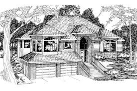contemporary sloped lot home plans
