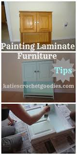 diy paint laminate cabinets painting laminate furniture diy katie s crochet goodies