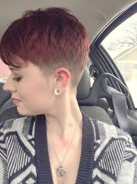 short haircuts for women with clipper womens clipper haircuts faded color and cut short and