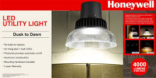 outdoor led dusk to dawn light honeywell outdoor led security light 4000 lumen dusk to dawn utility