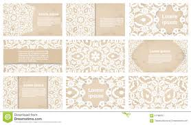 Business Card Invitation Vintage Business Card Or Wedding Invitation Collection Stock