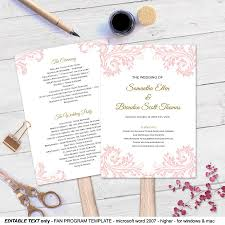 Program Fan Template Invitation Blush Wedding Program Fan Template 2512602 Weddbook
