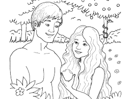 awesome along with lovely adam and eve coloring page pertaining to