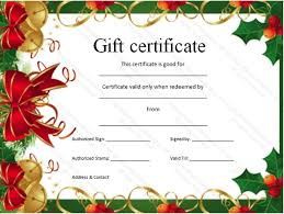 christmas gift certificate template powerpoint