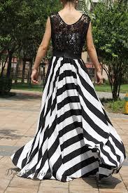 2018 lace dress lace maxi dress black white stripe dress