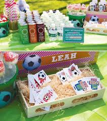 soccer party ideas playful pink orange soccer party hostess with the mostess