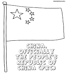 Image Chinese Flag China Flag Coloring Page Coloring Pages