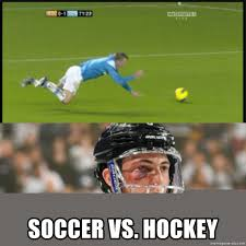 Hockey Meme Generator - soccer vs hockey soccer v hockey meme generator