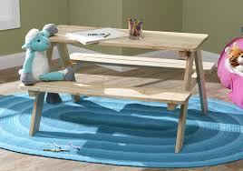 amazon com merry garden kids wooden picnic bench outdoor