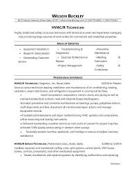 exle of an resume hvac technician resume sle