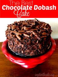 chocolate dobash cake say it with cake