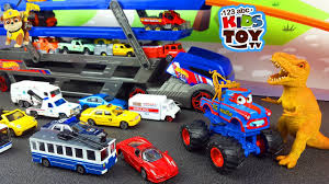 monster trucks for kids video cars for children transporter ambulance garbage truck cars