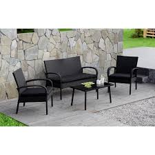 Walmart Patio Conversation Sets Cloud Mountain 4 Pc Rattan Conversation Set Patio Outdoor Wicker