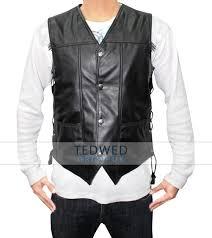 leather vest walking dead daryl dixon leather vest tedwed