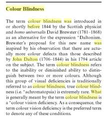 Was John Dalton Color Blind Etymology Prof John Dalton
