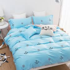 Anchor Bedding Set Simple Bedding Set 100 Cotton Bed Sheets King Size