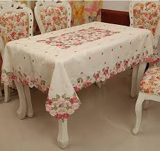 tablecloth embroidery table cove table cloth 150 220cm 60 90 inch