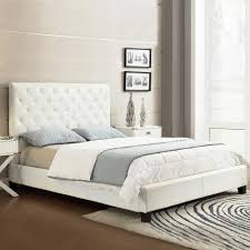 Toulouse White Bedroom Furniture Homesullivan Toulouse Grey Upholstered Bed 40886b322w 3a