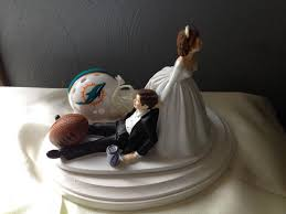 football wedding cake toppers wedding cake topper bridal miami dolphins nfl football team