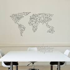 aliexpress com buy geometric map of the world wall sticker world aliexpress com buy geometric map of the world wall sticker world map wall decal modern living room wall decor home improvement cut vinyl m67 from reliable