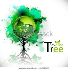 creative banner poster flyer save trees stock vector 612585473
