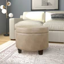 Homepop Storage Ottoman Homepop Faux Leather Storage Ottoman Taupe Homepop
