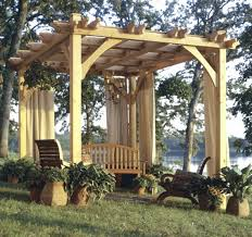 build to suit pergola woodworking plan from wood magazine