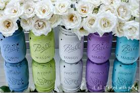 How To Paint Inside Glass Vases Mason Jars Painted Distressed