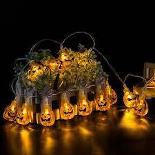 halloween ghost string lights 10 led hanging halloween decor pumpkins ghost spider skull led