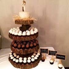 wedding cupcakes and cake tower we prepared for the cambridge mill