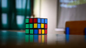 download wallpaper rubiks cube puzzle multi colored hd background