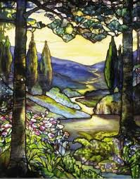 Louis Comfort Tiffany Stained Glass River Of Life