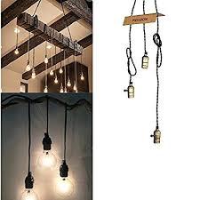 Hanging Pendant Light Kit Pendant Light Cord Kit Vintage Triple Light Sockets Pendant