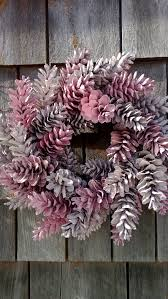 pinecone wreath pinecone wreath 12 pretty in pink made to order