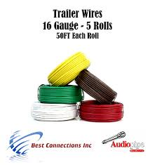 5 way trailer wire light cable for harness 50 ft each roll 16