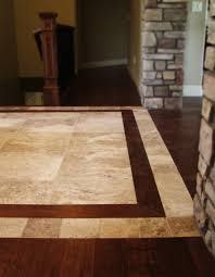 Kitchen Tile Floor Designs by Tile And Wood Flooring Combination Ideas Google Search Home