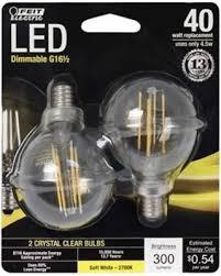Led Light Bulbs 2700k by Spring Sales On Feit Electric Bpg1660827led2 Globe Led Light Bulb
