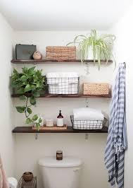 bathroom tower shelf square porcelain drop in sink brown wooden