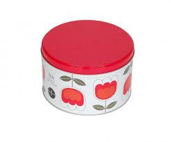 Bulk Cookie Tins Customized Empty Tea Tin Red Color Bulk Tin Box Customized Empty