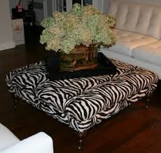 bromley cocktail brown and white ottoman bernhardt