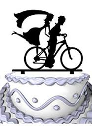 bicycle cake topper tandem bicycle wedding cake topper bike cake topper we