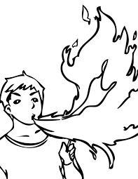 fire breathing coloring page handipoints