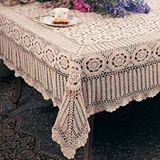 Round Kitchen Table Cloth by Amazon Com Handmade Crochet Lace Tablecloth 100 Cotton Crochet